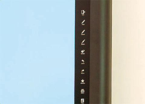 Touchmenü für Touchmonitor